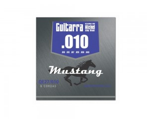 Encordoamento Mustang Guitarra 010 Qe27-010 Nickel Alloy Phx