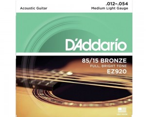Encordoamento Dario Violão Aço Ez920 Medium Light 012 12288
