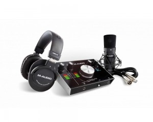Interface M-audio Mtrack 2x2 C/ Fone e Mic Mtrakstpr