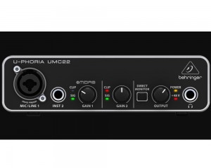 Interface Audio Usb Behringer Midas U-phoria Umc22