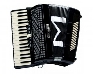 Acordeon Michael 80bx Preta Lisa 7/2reg Acm8007n Spb