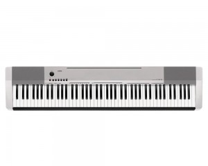foto Piano Digital Casio Cdp 130sr Prata 88 Teclas Fonte e Estante Cs44